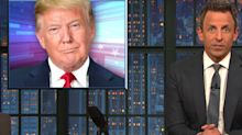 Seth Meyers Has A Funny Theory About Trump's Air Force One Makeover