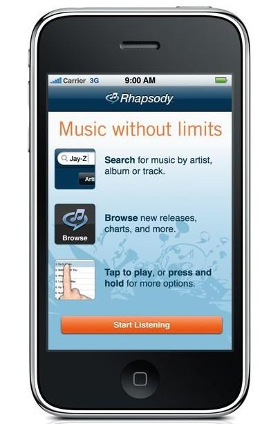 Rhapsody App approved by Apple: 8 million tracks streaming to the ether (update: video!)