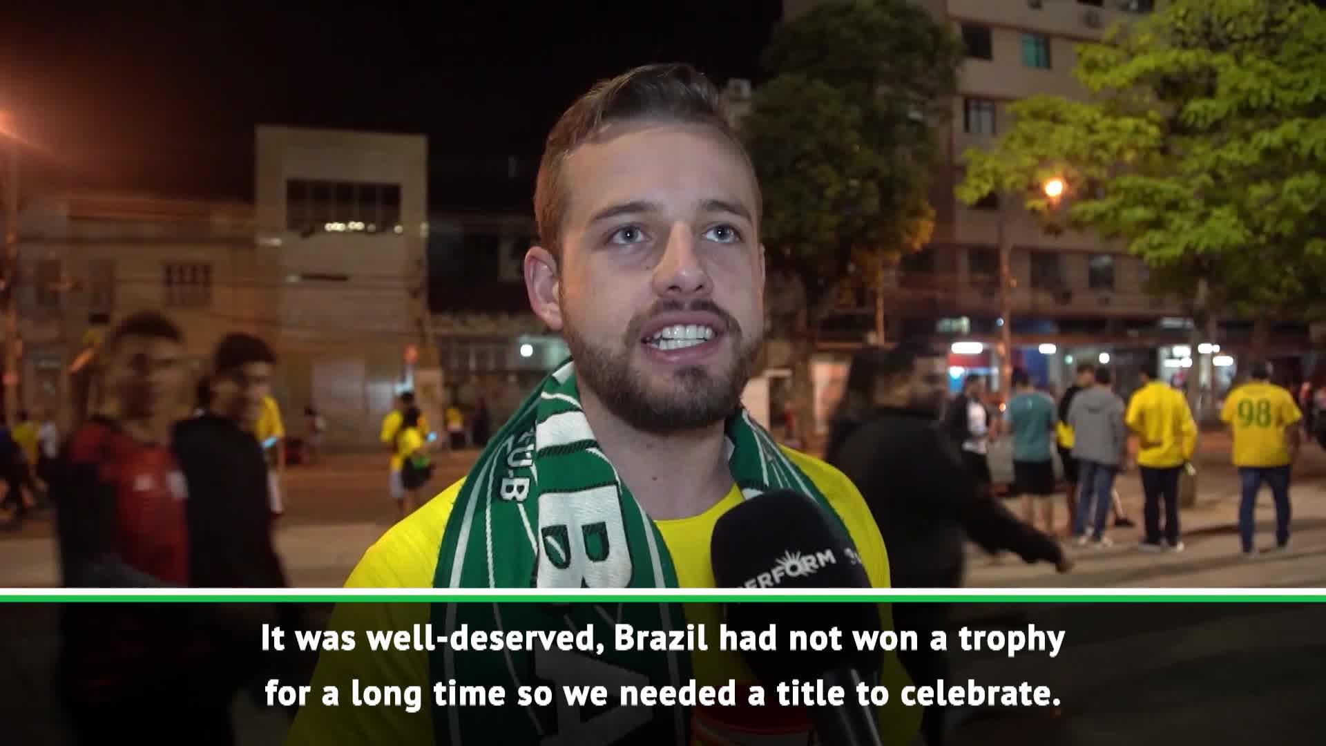 Rio reacts to Brazil's Copa America victory