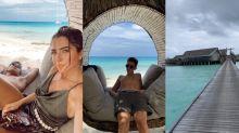 João Guilherme e Jade curtem resort com diárias de R$ 25 mil nas Maldivas