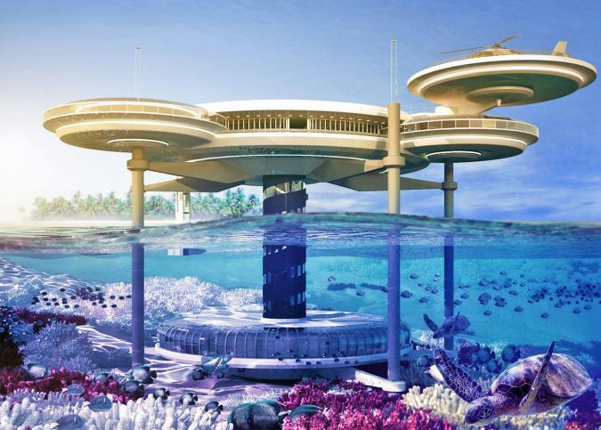 Six amazing underwater buildings