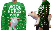 PETA sells terrifying Christmas jumper featuring a bloodied sheep