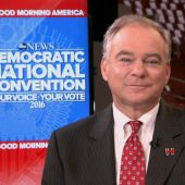 Tim Kaine Says Donald Trump Is a 'Threat' to Bernie Sanders' Supporters and Their Values