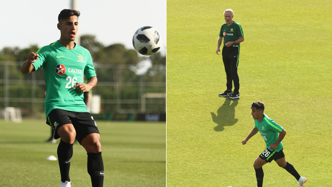 Cahill's role in teen Arzani's World Cup audition