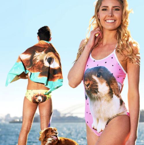 Custom pet swimwear