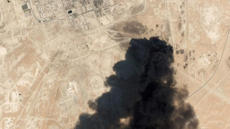 Saudi Arabia has blamed Iran for the attack on its oil facility at Abqaig last month, an accusation Tehran has rejected (AFP Photo/HO)