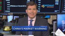 China ETF's market warning