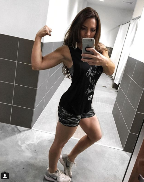 Enslow credits cardio and weights for her figure. (Photo: Instagram/jessicaenslow)