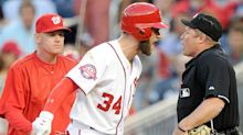 Watch: Bryce Harper throws bat in meltdown after getting ejected