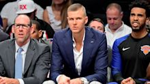 Proof is in the pic: Kristaps Porzingis answers to claim of slow rehab