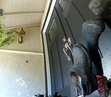 Watch: California homeowner scares off masked burglars