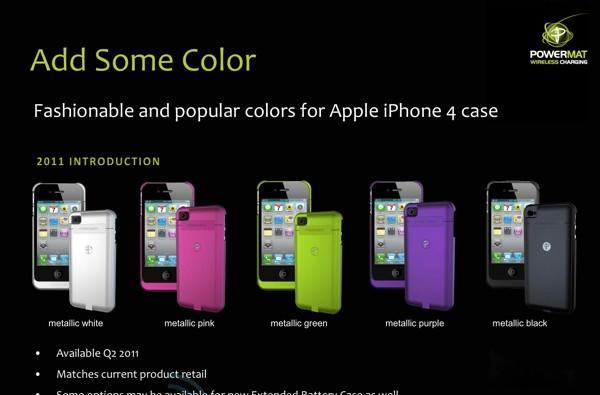 Powermat's 2011 product roadmap: colorful iPhone cases, extended batteries, and more