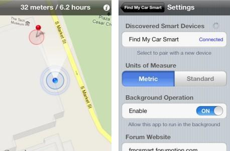 Find My Car Smart app uses Bluetooth 4.0 to help iPhone 4S owners do the obvious
