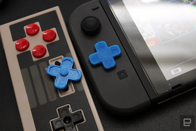 A 3D printer gave my Nintendo Switch a real D-pad