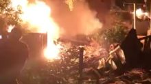 Watch the dramatic scenes as car hits house, causing explosion in London, Ontario