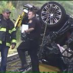 Two Teens Killed When Car Plunges Off Overpass, Bursts into Flames in New York: Police