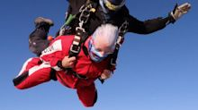 'Awesome': Thrill-seeking gran celebrates 90th birthday with 15,000ft skydive