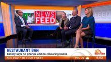Restaurant bans colouring books