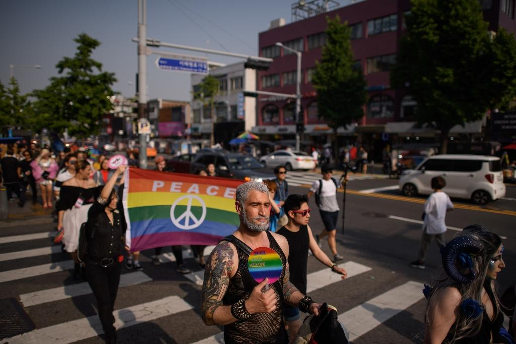 Gay pride parades have been a fixture in South Korea for years but have often been protested by religious groups (AFP Photo/Ed JONES)