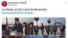 Críticas a la Casa Real por este tuit sobre el rey Felipe y la reina Letizia: el fallo es evidente