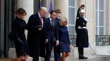After testy tweet, Trump calls French president good friend