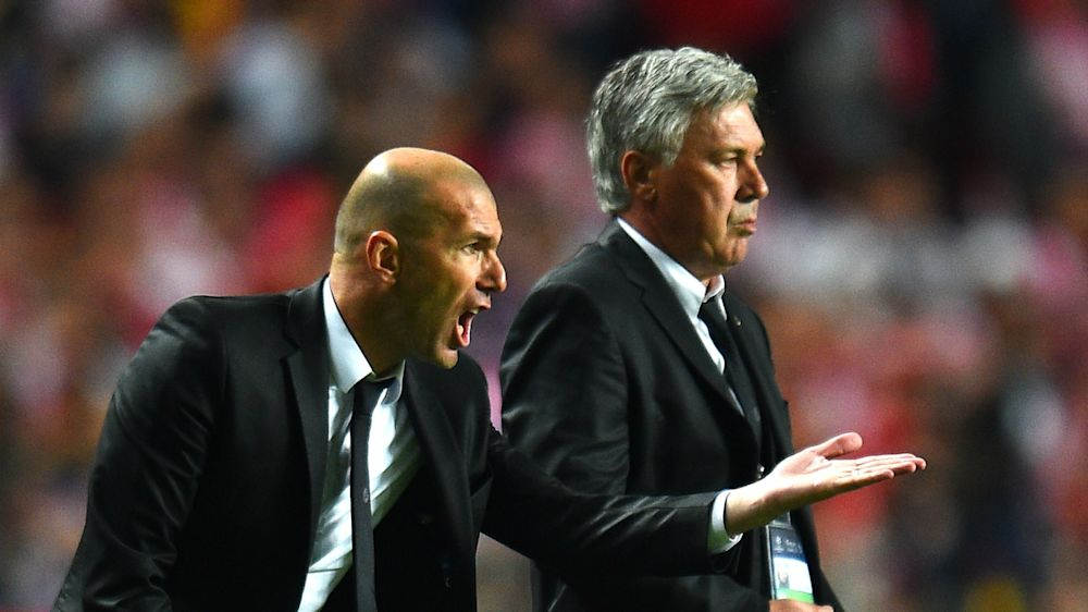 Ancelotti looks forward to showdown with Madrid 'icon' Zidane