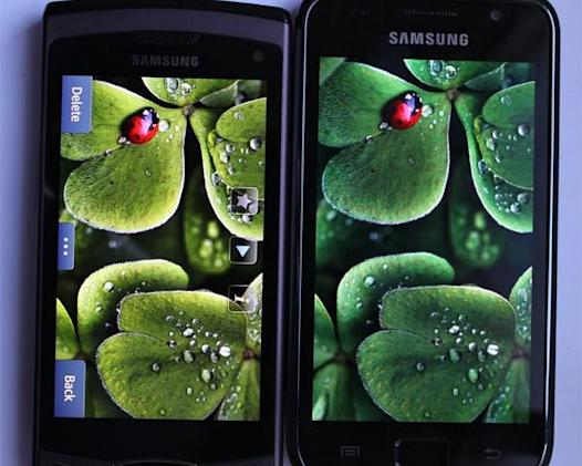 Samsung Wave II has its Super Clear LCD tested against Galaxy S Super AMOLED display