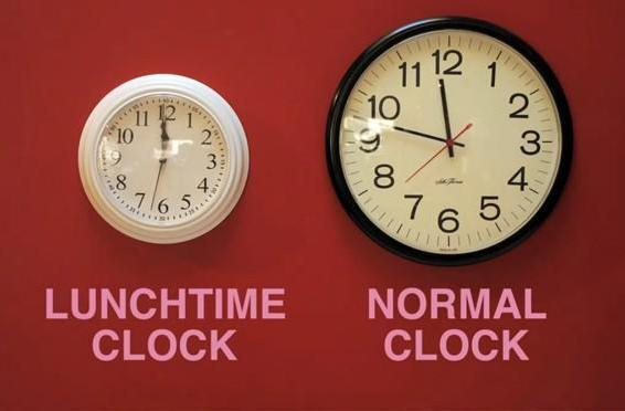 Lunchtime Clock mod offers false promises to beleaguered office workers