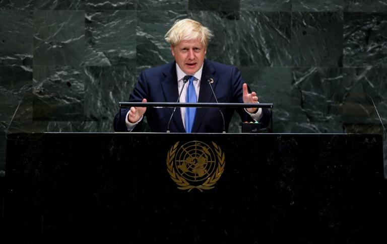 During a late-night, 20-minute address British Prime Minister Boris Johnson warned of technology's capacity to control citizens
