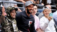 David Beckham Has Boys' Night Out With Sons at L.A. Kings Match