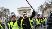 """""""Coletes amarelos"""" saem às ruas na França pelo quinto sábado consecutivo"""