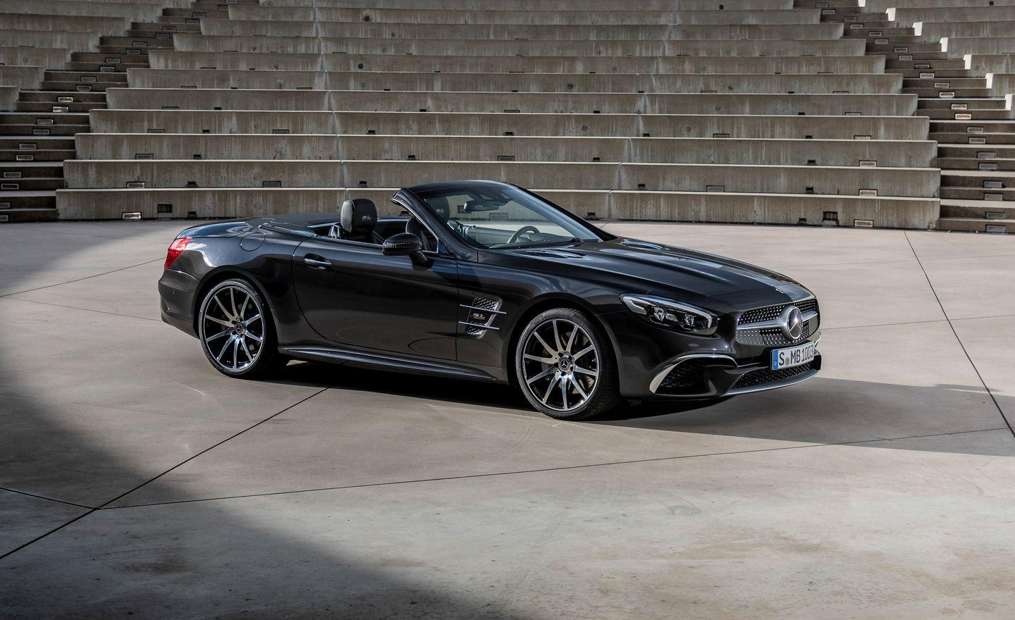"""<p>In the 65 years since Mercedes introduced the first roadgoing <a href=""""https://www.caranddriver.com/mercedes-benz/sl-class"""" rel=""""nofollow noopener"""" target=""""_blank"""" data-ylk=""""slk:SL"""" class=""""link rapid-noclick-resp"""">SL</a>, there have been just six generations of the flagship two-seater. For 2020, Mercedes will send off that sixth R231 model with a special color scheme and call it the Grand Edition.</p>"""