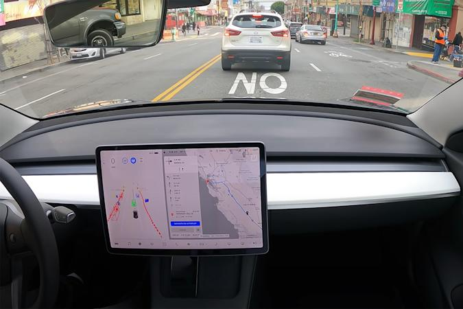 Tesla Model 3 uses Full Self-Driving to navigate from San Francisco to Los Angeles
