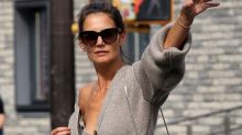 Can't afford Katie Holmes's Khaite look? We've found 8 fall cardigans just as good