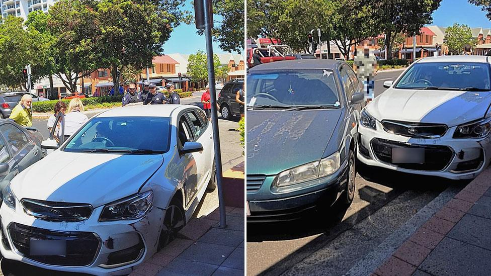 Tourist crashes rental 'just minutes after hiring the car'