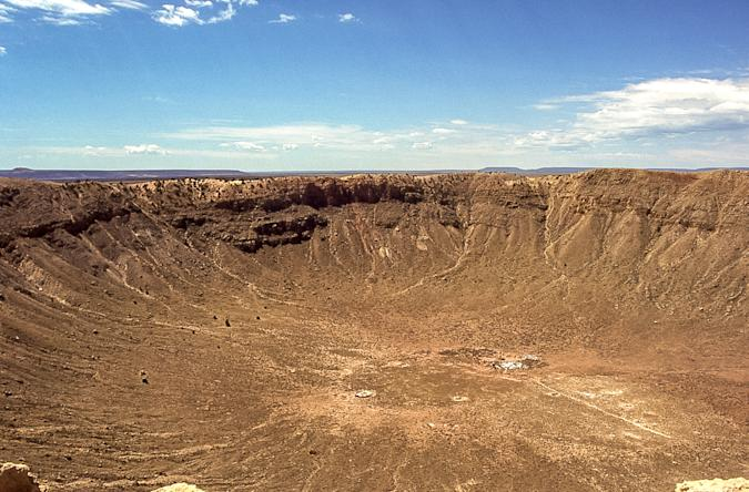 Meteor Crater, also called Canyon Diablo crater, Barringer Crater, Coon Mountain and Coon Butte, is the best preserved meteor crater in the world.