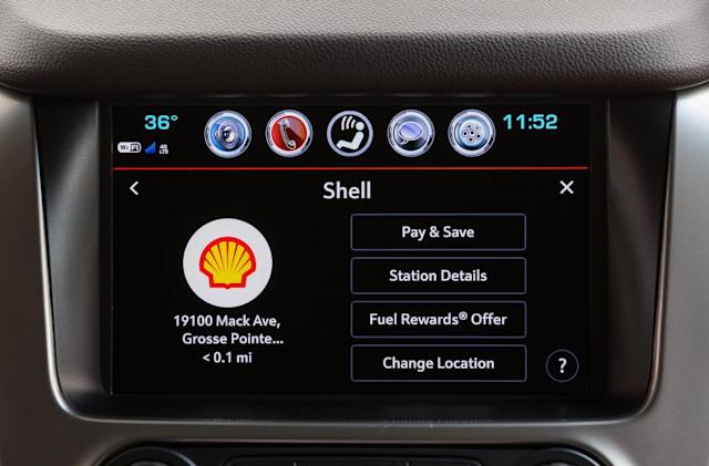 Use Chevy's in-dash system to pay for your Shell gas