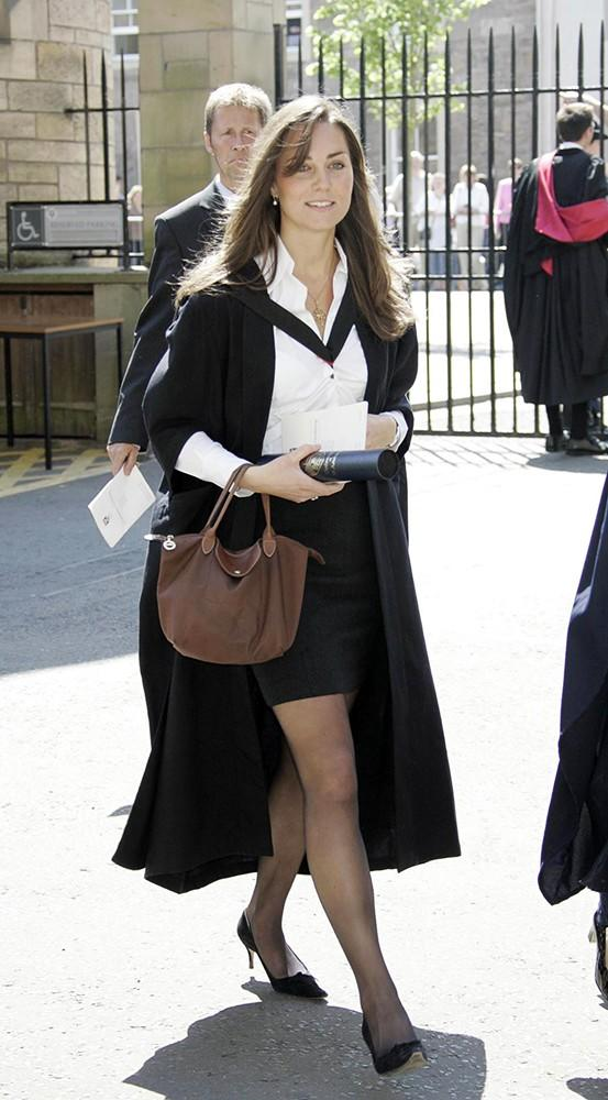 Kate at her graduation from St. Andrews, where she met Prince William.