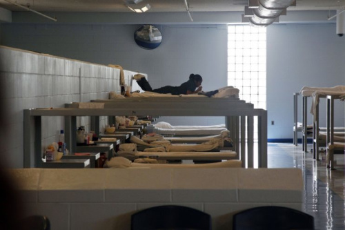 In this Aug. 2, 2011 photo, an inmate rests at Integrity House, a transitional housing/residential treatment area for women incarcerated at the Hudson County Correctional Center in Kearny, N.J. (Photo: Mel Evans/AP)