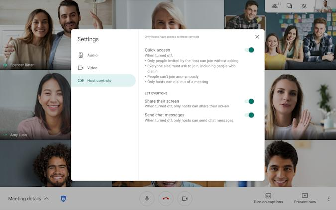 Google Meet makes moderation easier by allowing up to 25 people to co-host