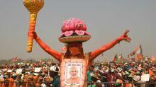 Hunderttausende Menschen bei Wahlkampfauftritt von Indiens Regierungschef Modi