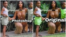 Kim Kardashian is accused of Photoshopping her five-year-olddaughter