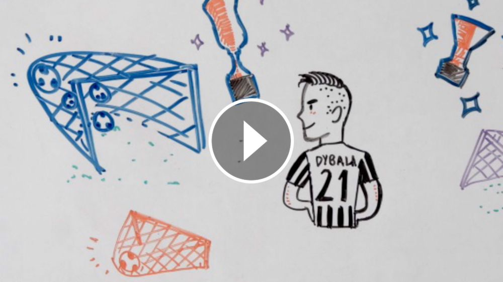 VIDEO: La historia animada con la vida de Dybala
