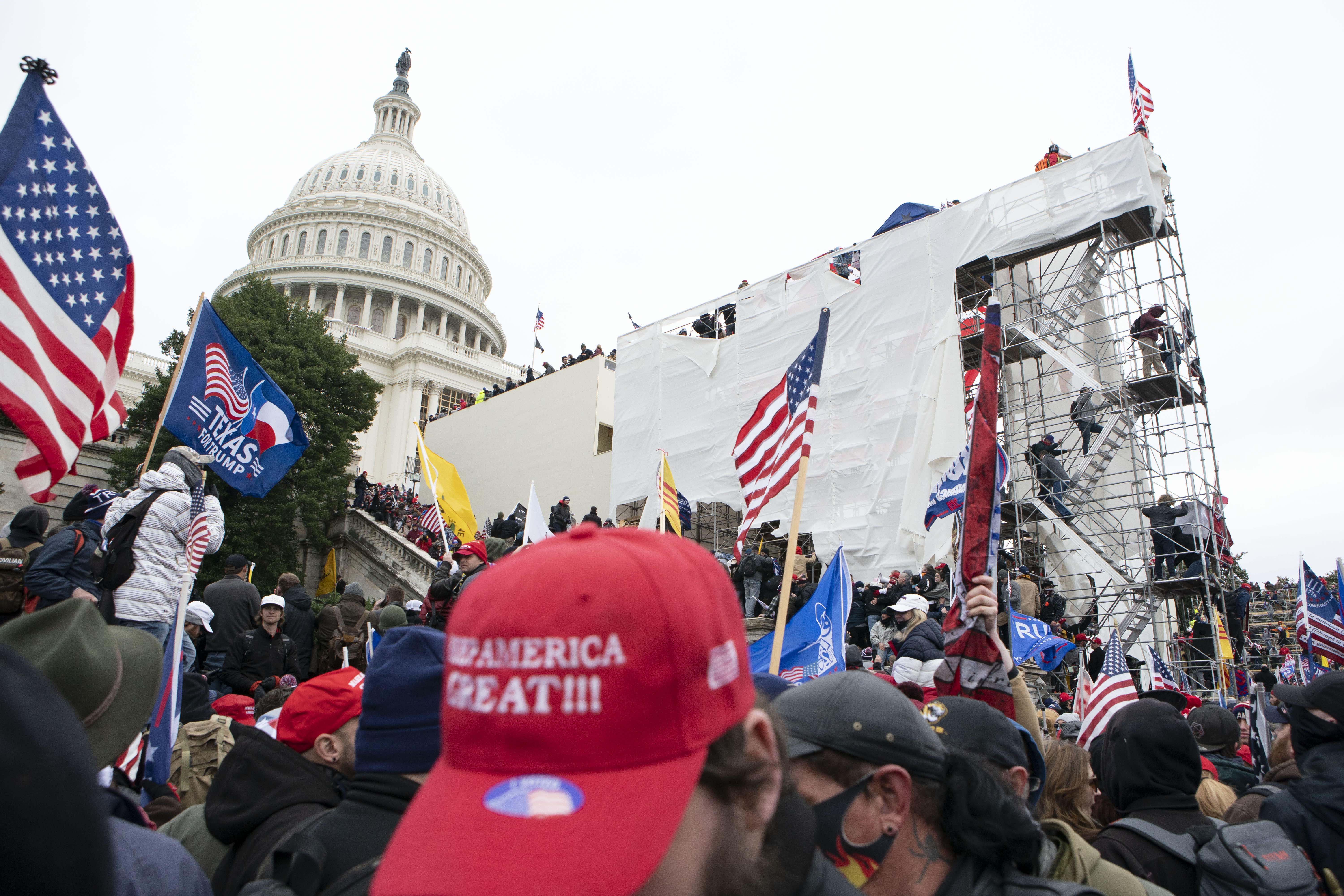 Capitol police were overrun,  little defense against rioters