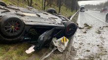 'Expensive crash': $700k Ferrari totalled in 'unfortunate' accident