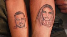 Katie Price and Carl Woods get tattoos of each other's faces