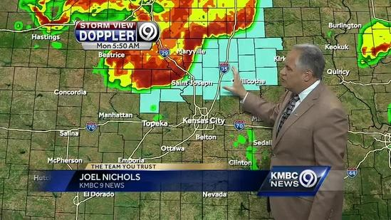 Storms to start your Memorial Day but clearing later on