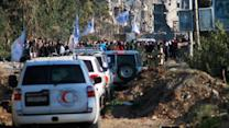 Scenes From a U.N. Convoy Under Attack in Syria