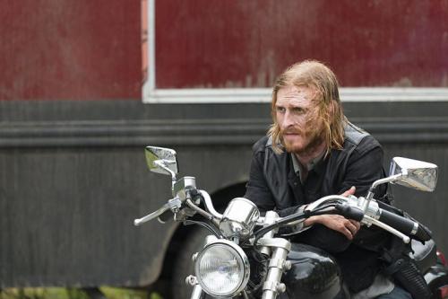 Austin Amelio as Dwightin AMC's The Walking Dead . (Photo Credit: Gene Page/AMC)