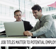 Job titles matter to potential employees